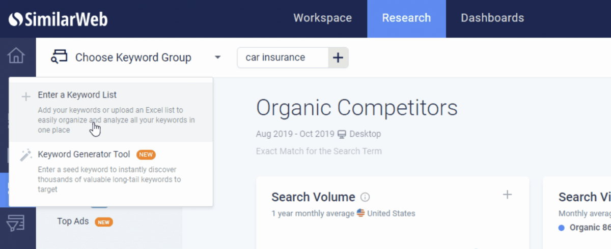 SimilarWeb research