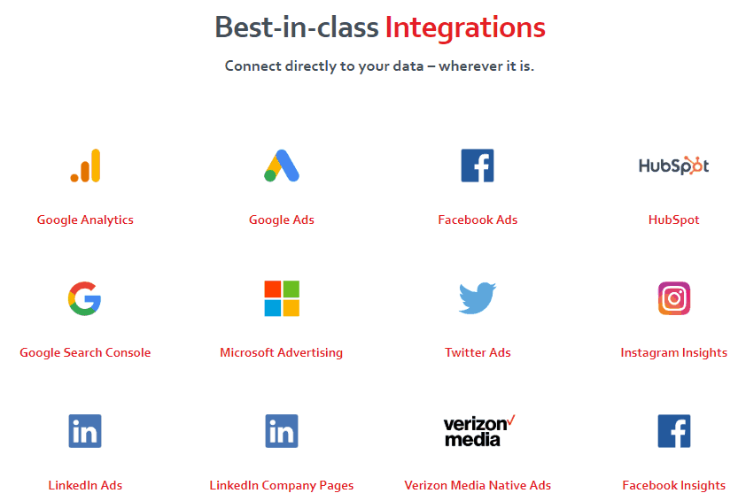 supermetrics integrations