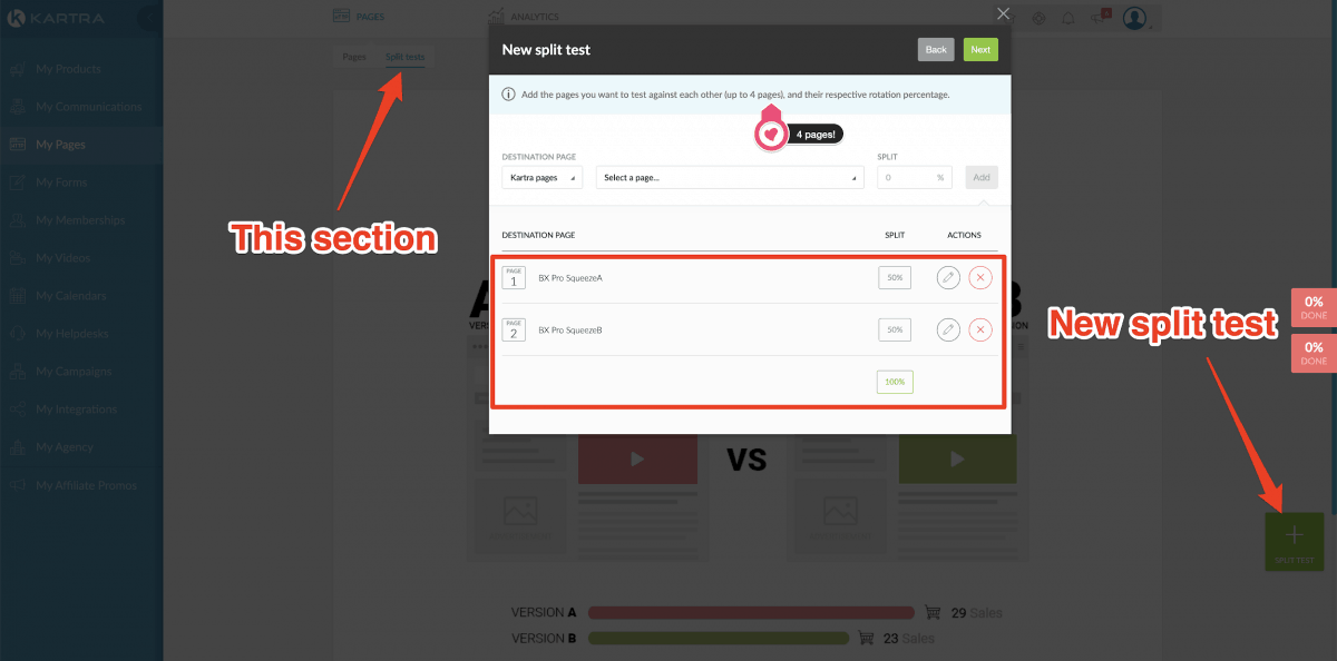 A/B split testing with ClickFunnels