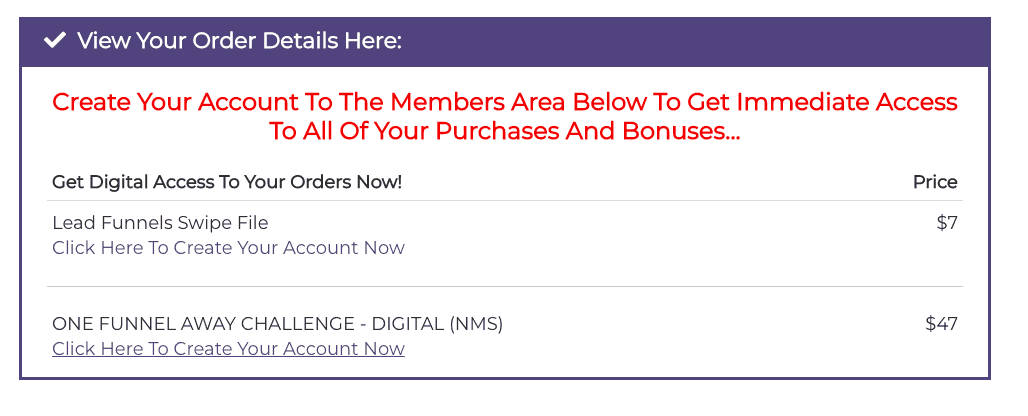 Offer to the One Funnel Away Challenge