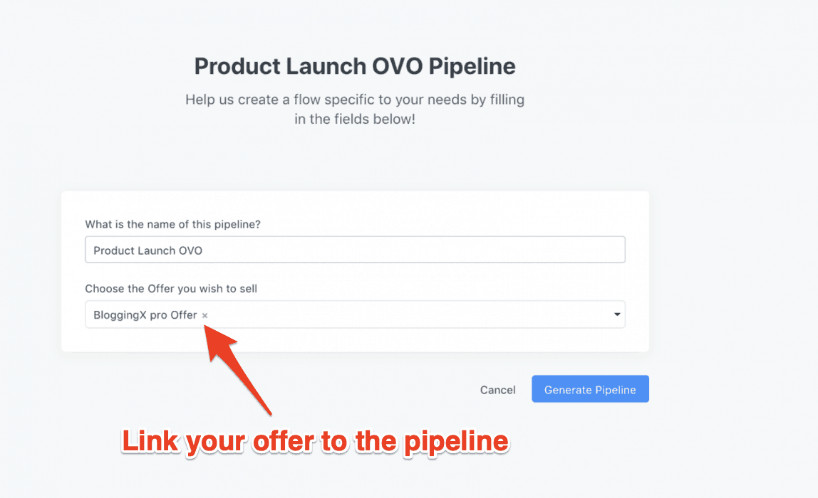 Product launch OVO pipeline