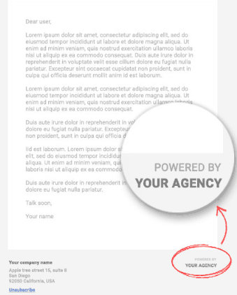 White labeling the client reports