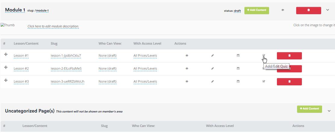 Adding content using the membership editor