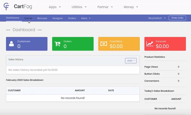 CartFog dashboard