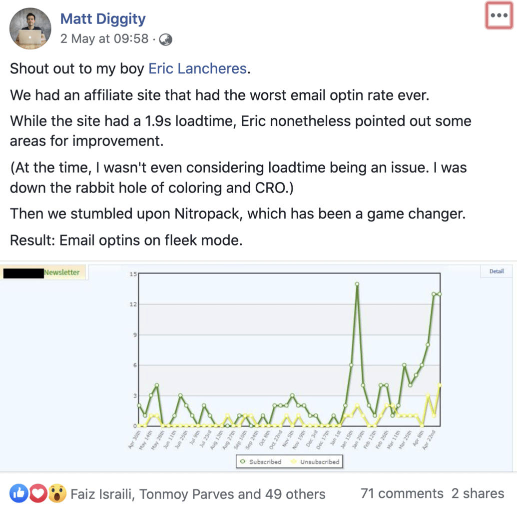 Matt Diggity fb post