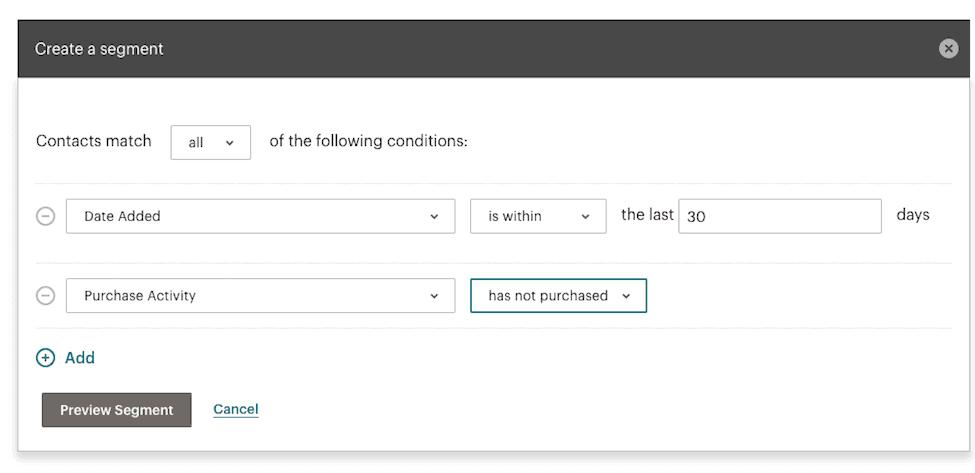 Mailchimp list organization