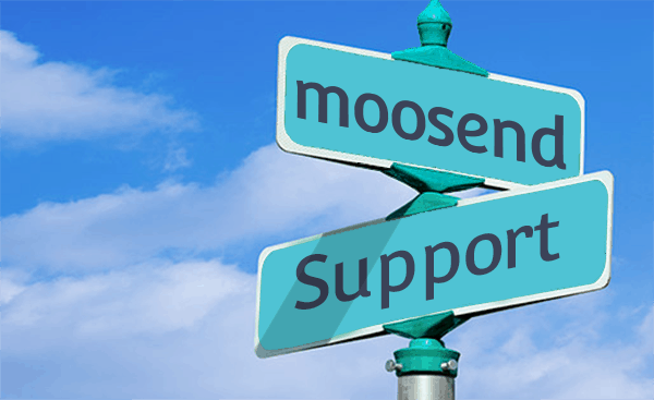 Moosend support
