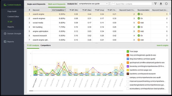 Website Auditor analysing webpage