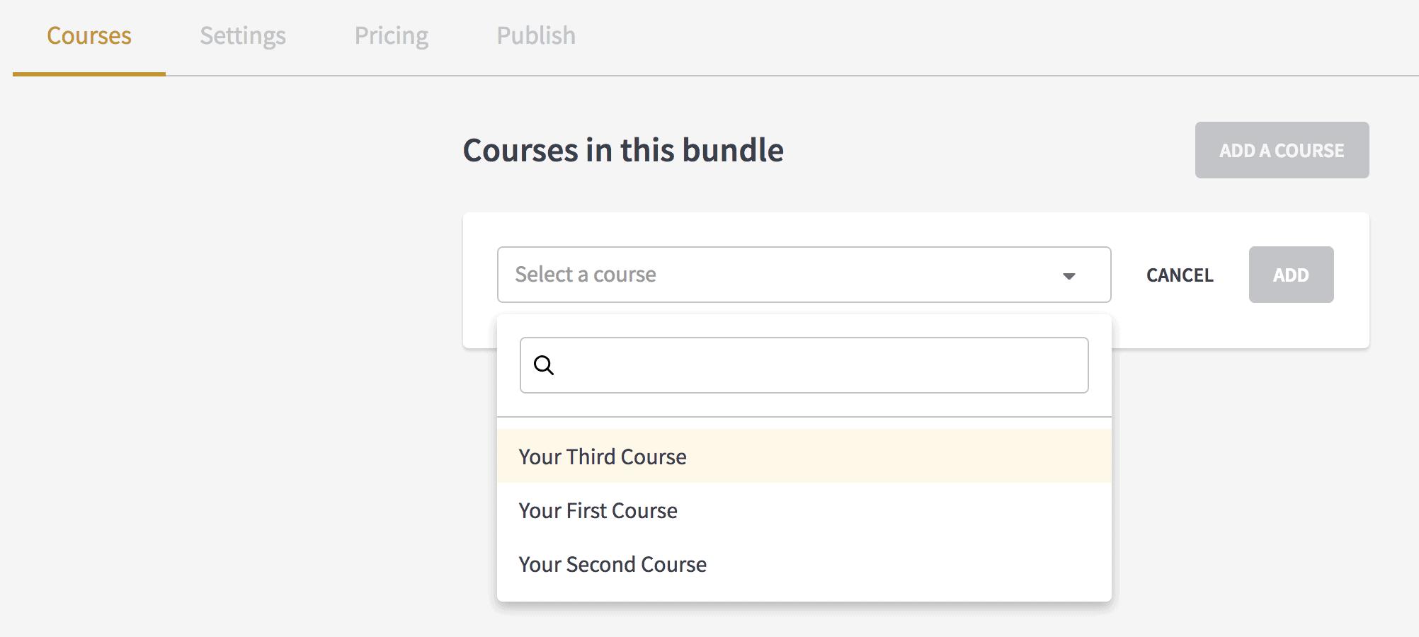 Course bundling