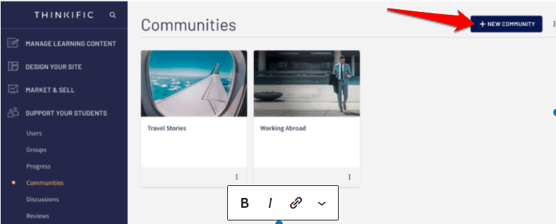 Creating a Thinkific Community