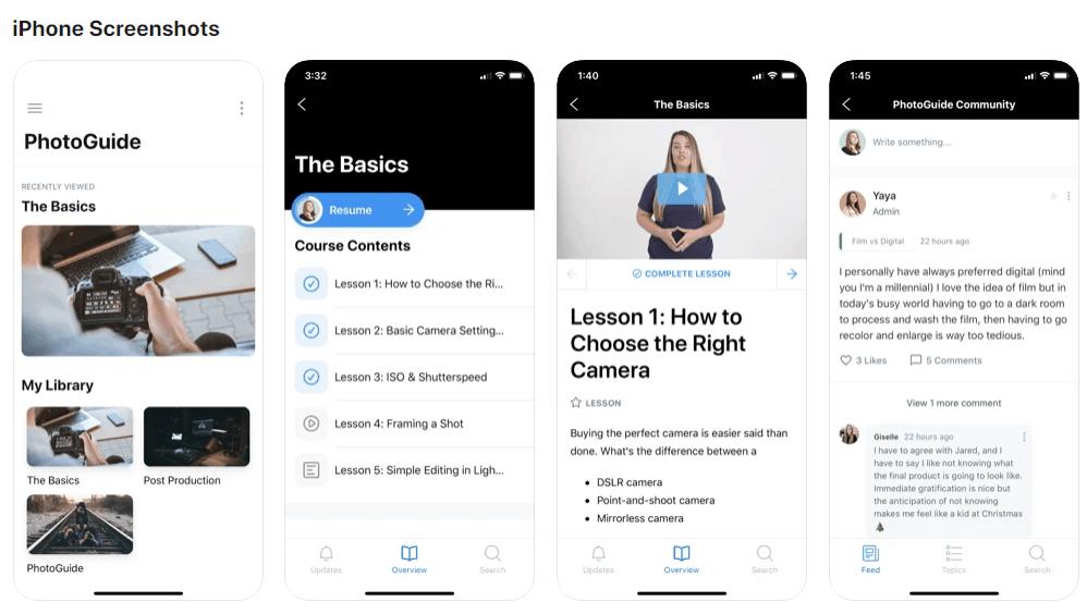 The Kajabi mobile app for IOS