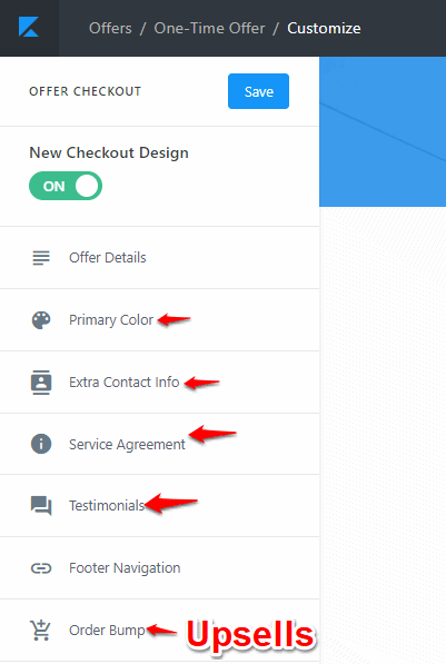 Kajabi checkout page design tools