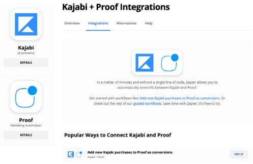 Kajabi integrations
