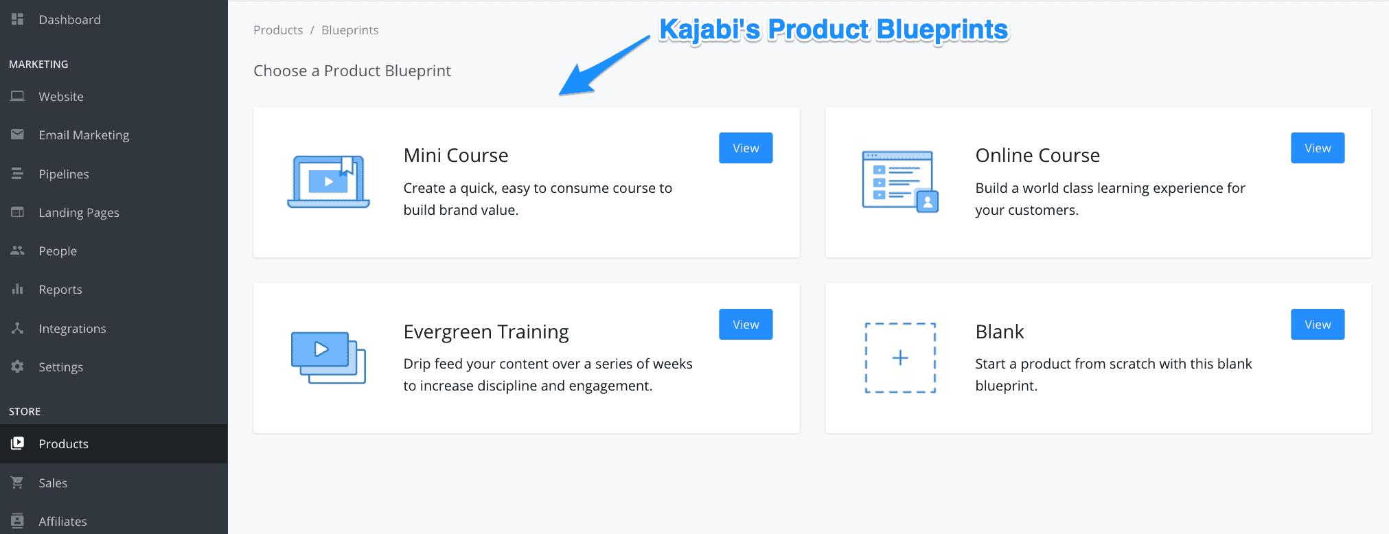 Product blueprints
