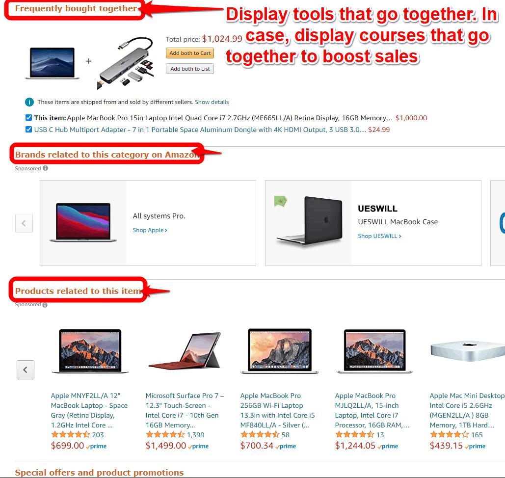 Upselling on Amazon