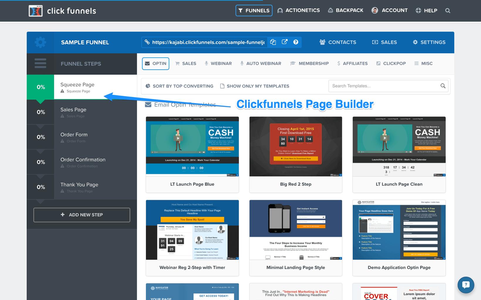 Clickfunnel page builder