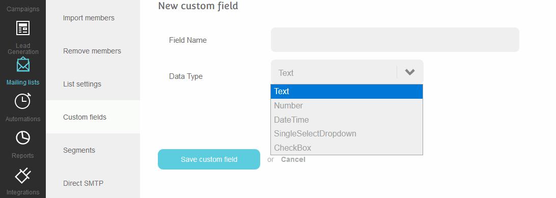Custom fileds