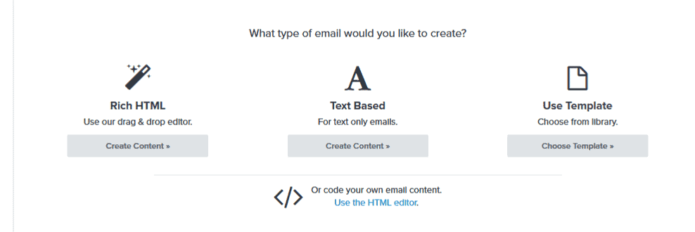 Klaviyo email editors