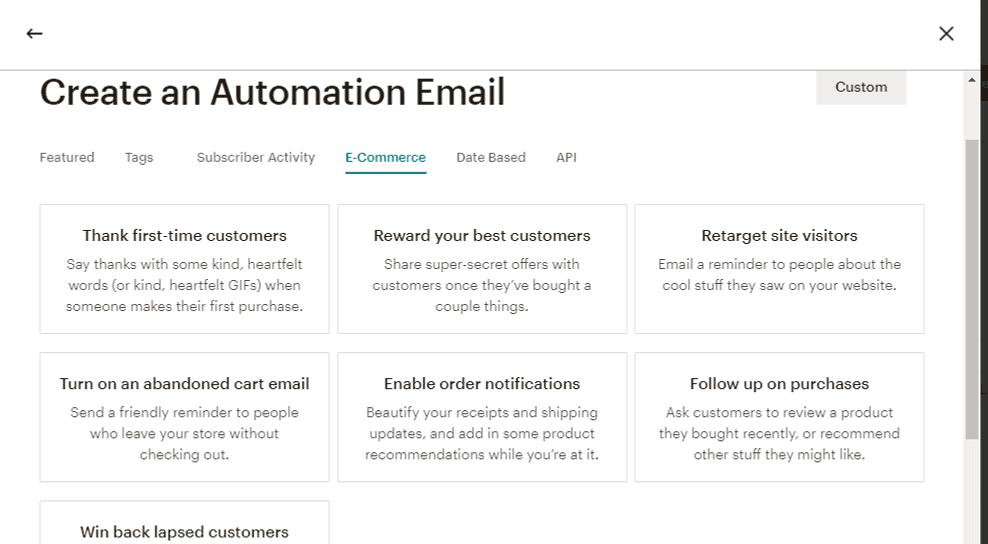 MailChimp eCommerce