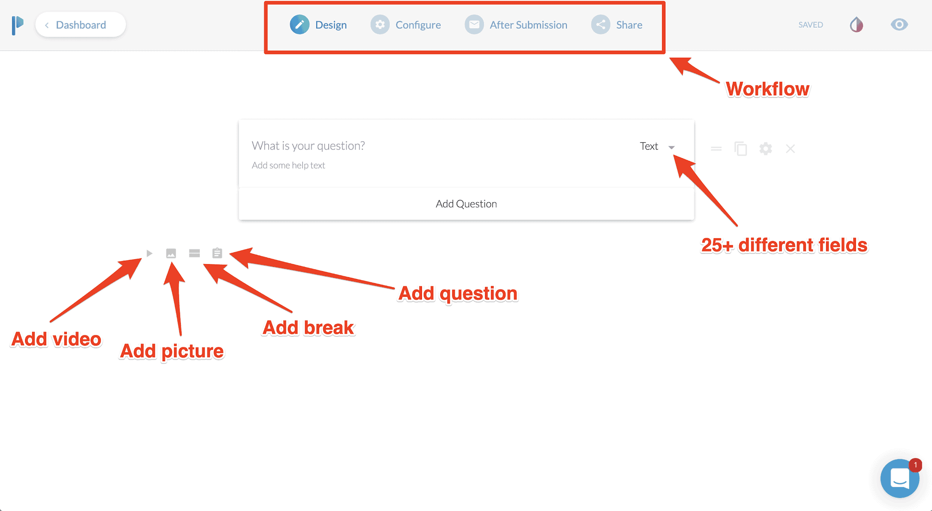 Paperform interface