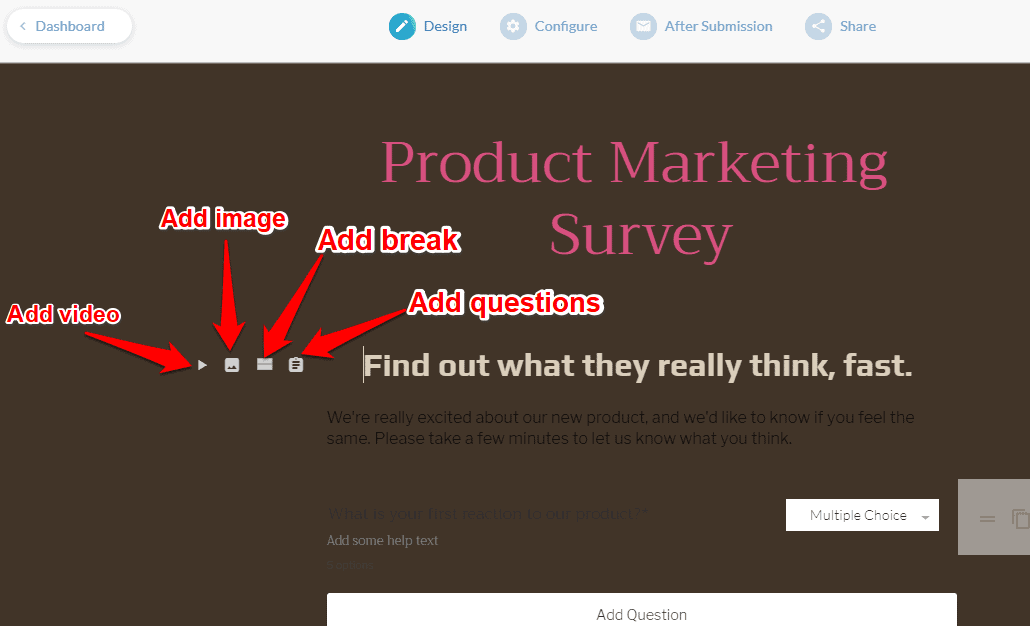 Survey forms