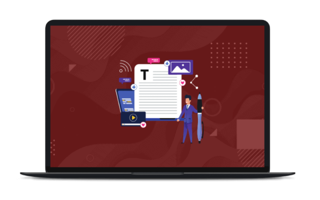 content writing course mockup
