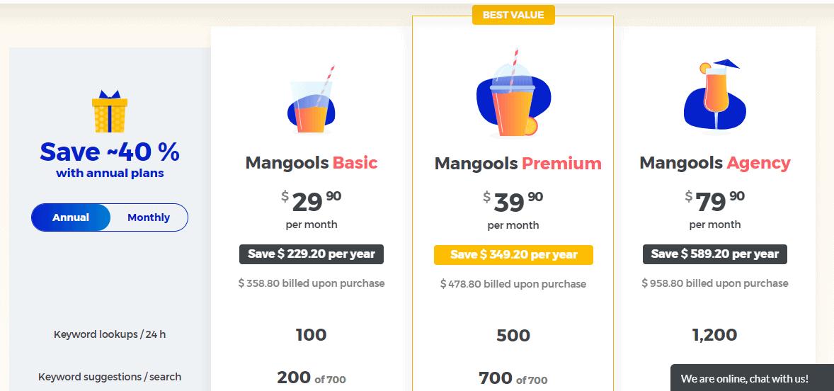SERPWatcher pricing