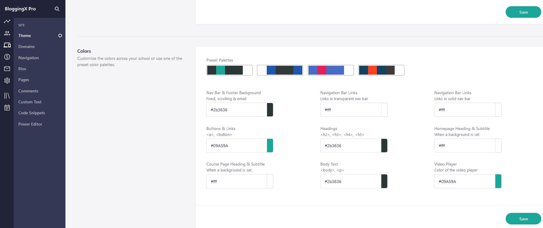Teachable colors