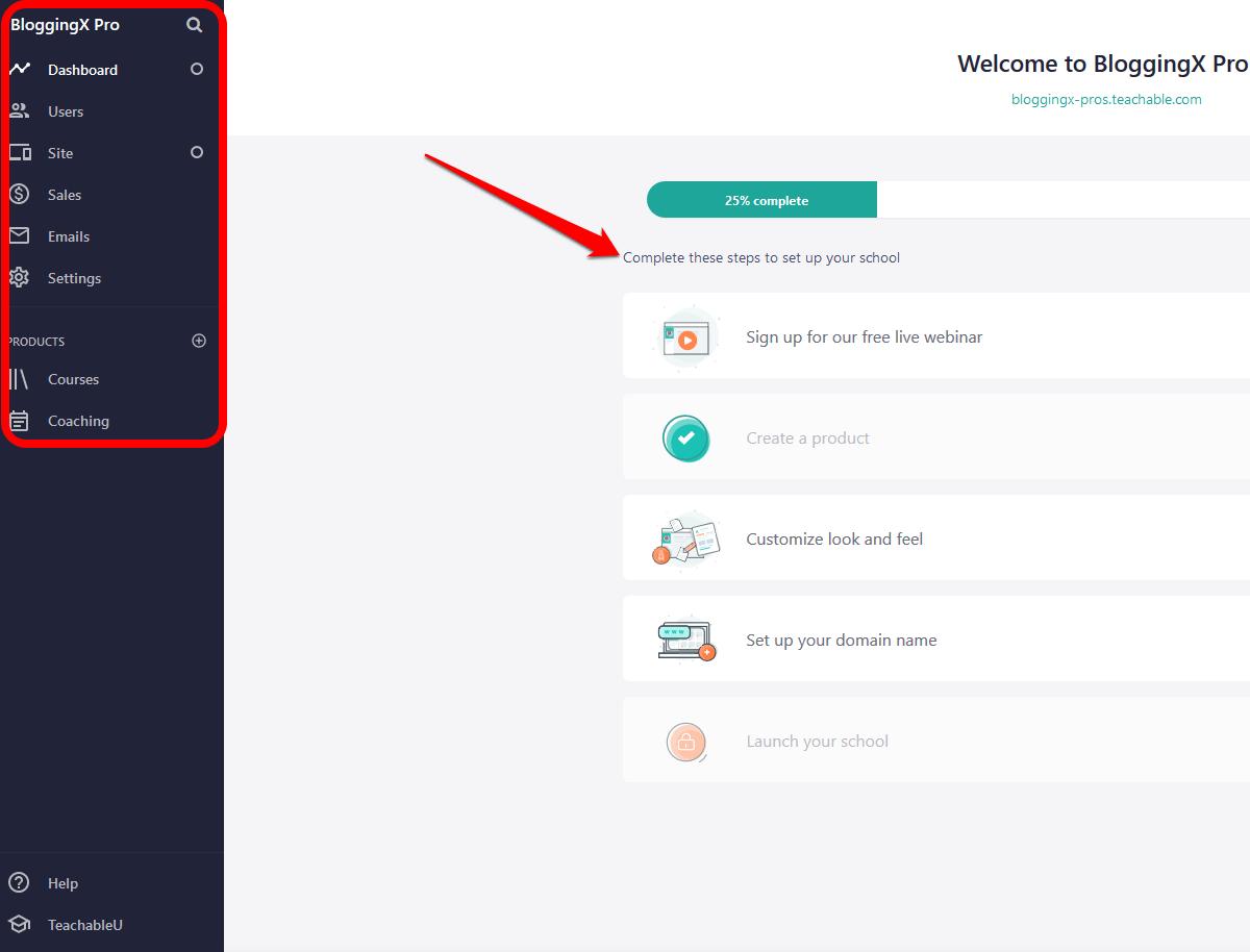 Teachable interface