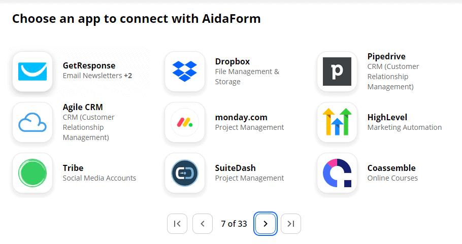 AidaForm integration