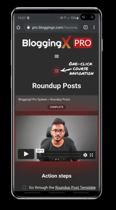 bloggingx pro mobile experience raw