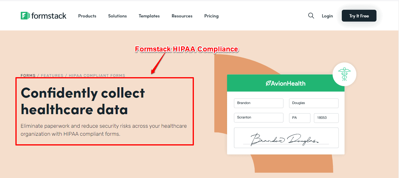 Formstack HIPAA compilance