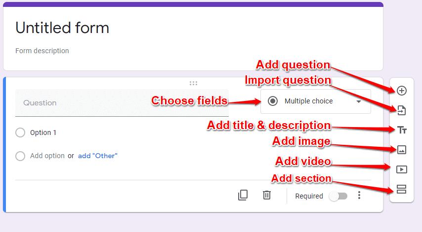 Google forms form builder