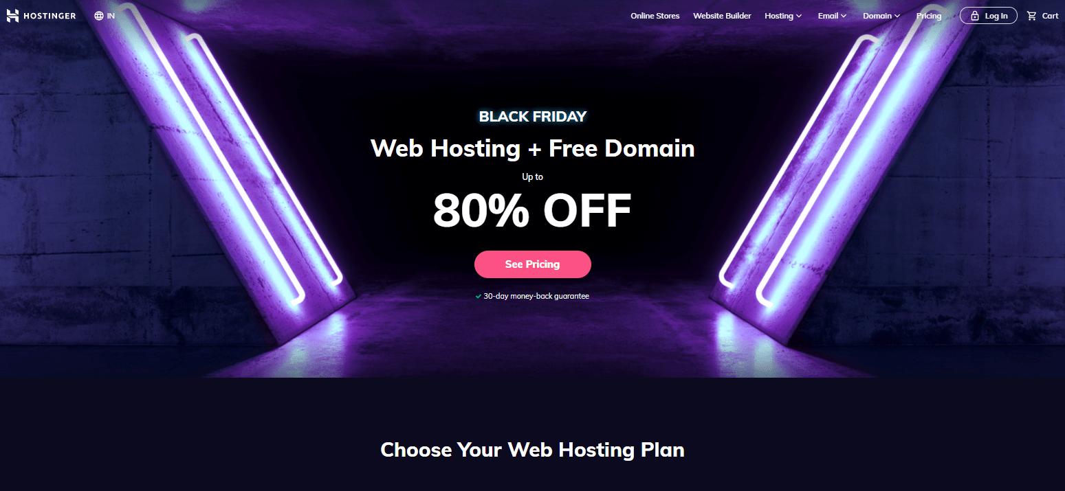 Hostinger Black Friday cyber monday sale