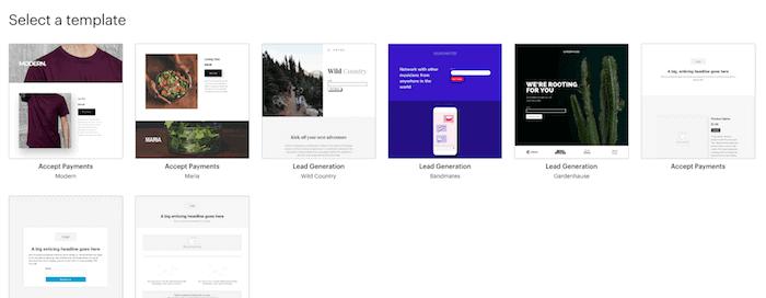 MailChimp form templates