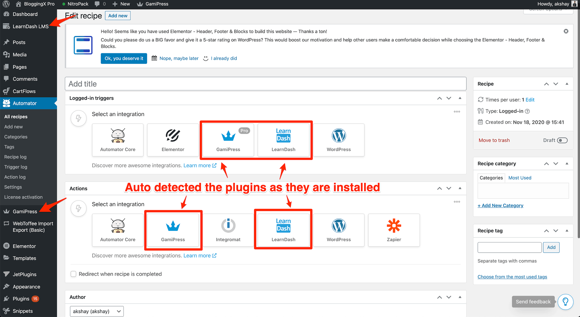 Plugins auto detected