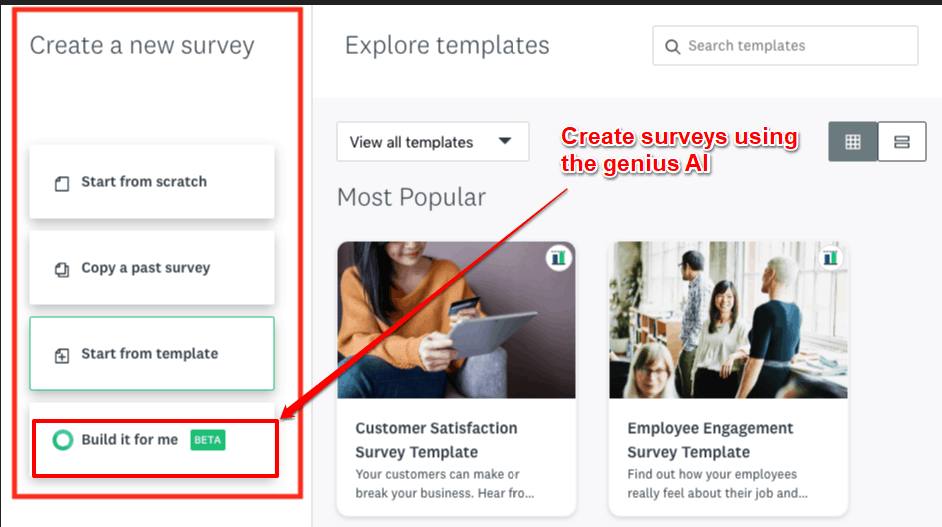 SurveyMonkey form builder