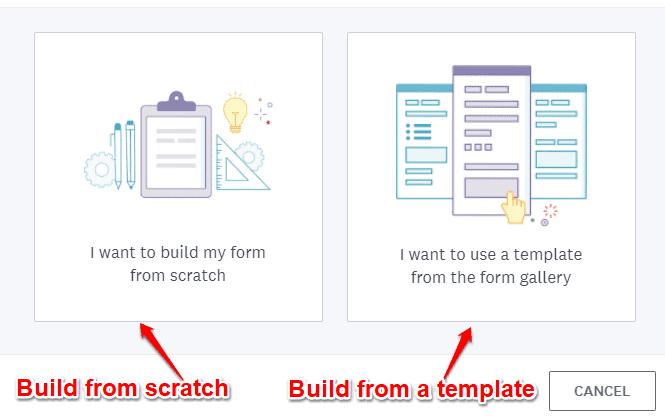 Wufoo form templates