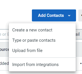 Adding contacts in Constant Contact