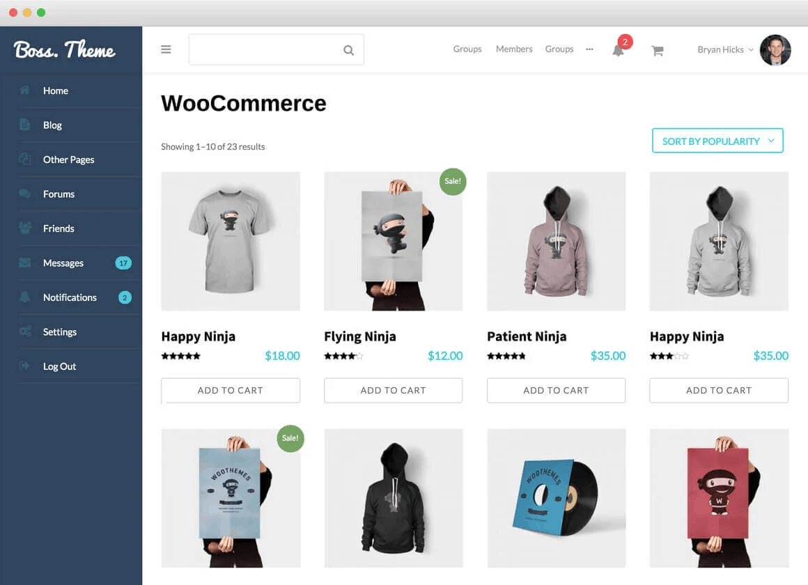 BuddyBoss and WooCommerce integration