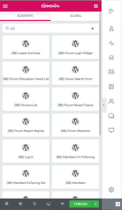BuddyBoss integration with Elementor
