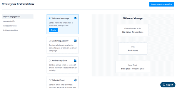 Creating automation workflows