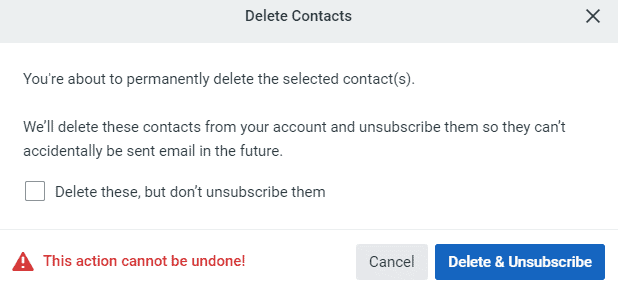 Delete contacts in Constant Contact