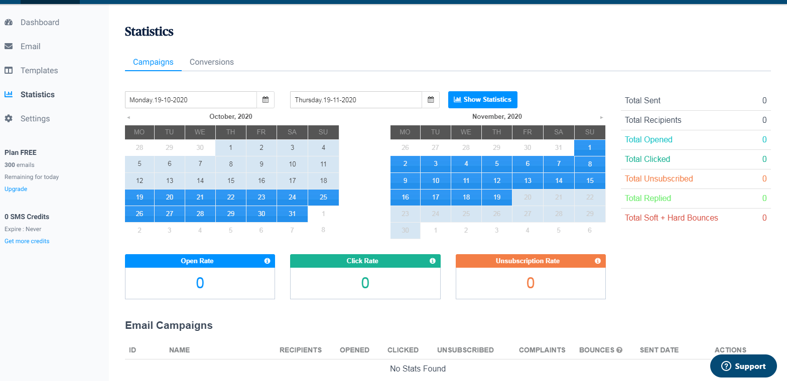 SendinBlue reports