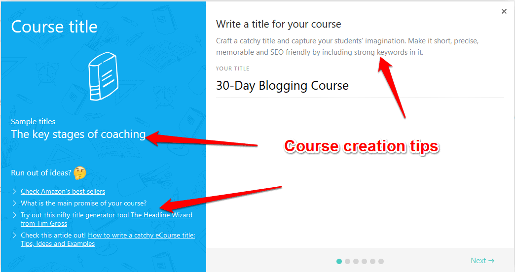 LearnWorlds course creation