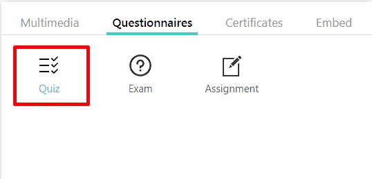 LearnWorlds questionnaires