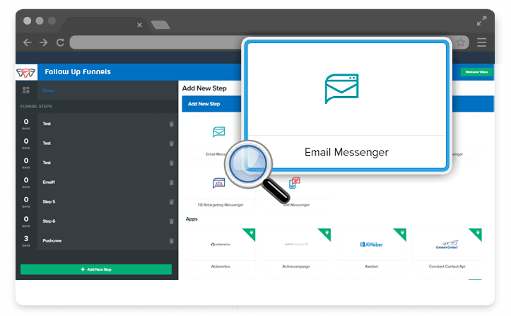 ClickFunnels email messenger