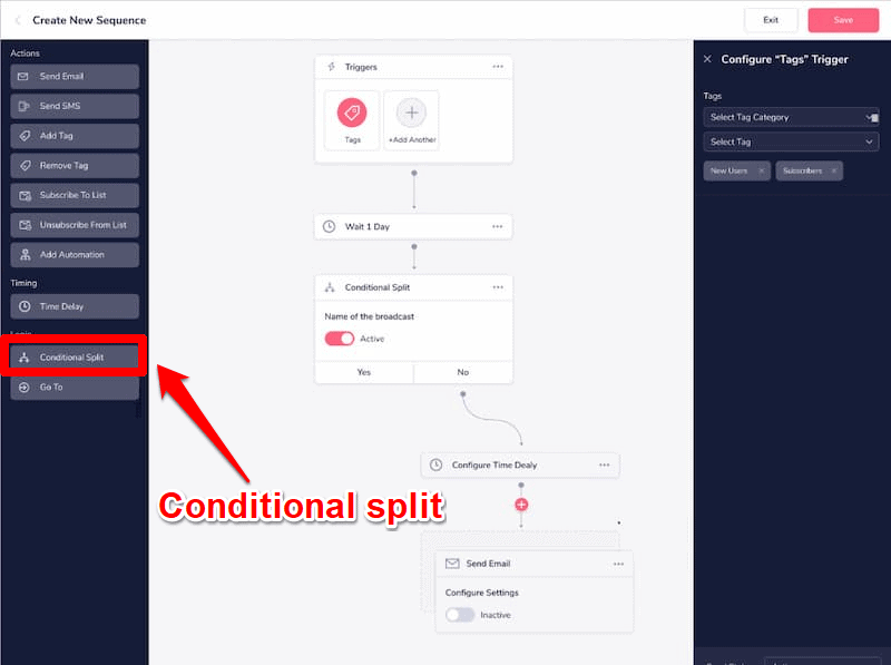 GrooveFunnels conditional split test