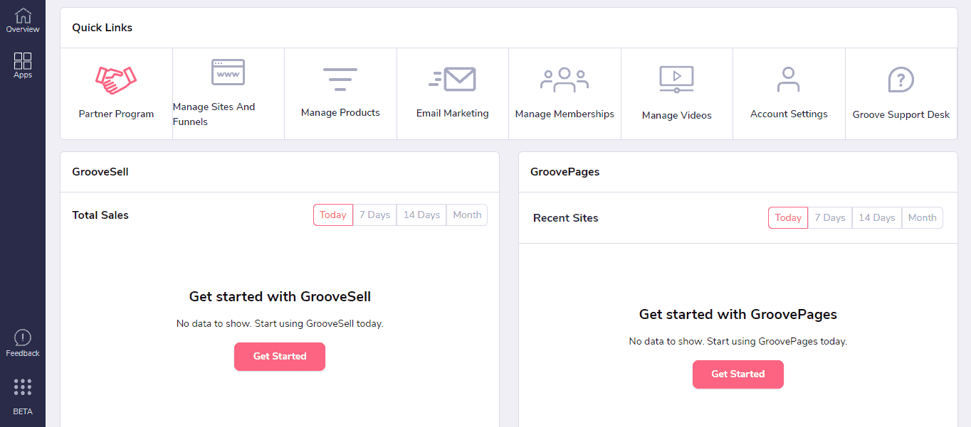 groovefunnels interface
