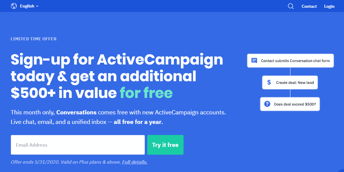 ActiveCampaign interface